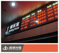 bank/train station/bus station timetable P4.75 indoor red&green LED screen module Chinese Manufacturer