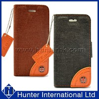 Jean Wallet Leather Case For iphone 5S Flip Cover