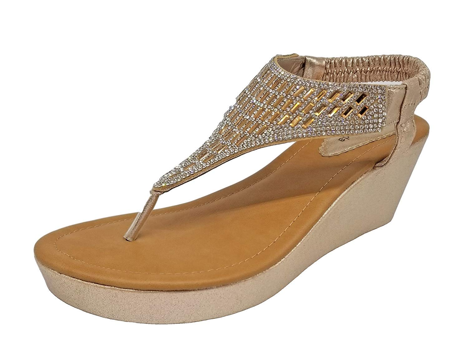 5a52db72b10 Get Quotations · Top Moda OR-26 Women s Wedge Sandals