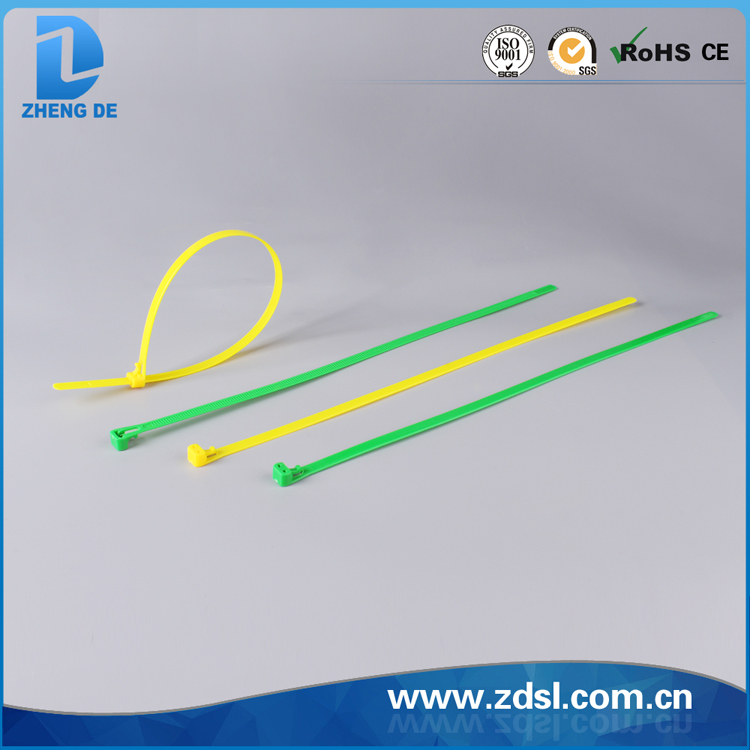 Factory outlets acid resistance easy to use plastic zip nylon cable tie
