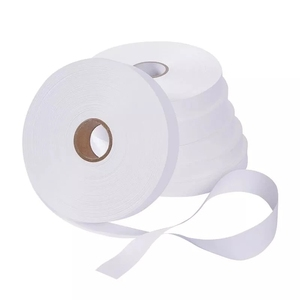 40mm*200M white color blank nylon taffeta label tape fabric clothing printable wash care label