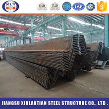Best price z type water-resisting cold formed steel sheet pile , piling sheet bar for tunnel