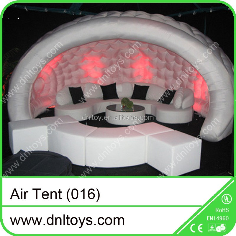 Inflatable Lighting cube tent for gaint party
