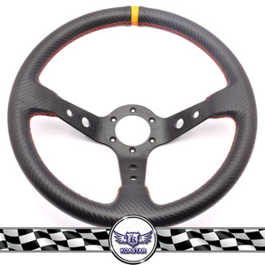 New interior car accessories Carbon Fober look Steering Wheel