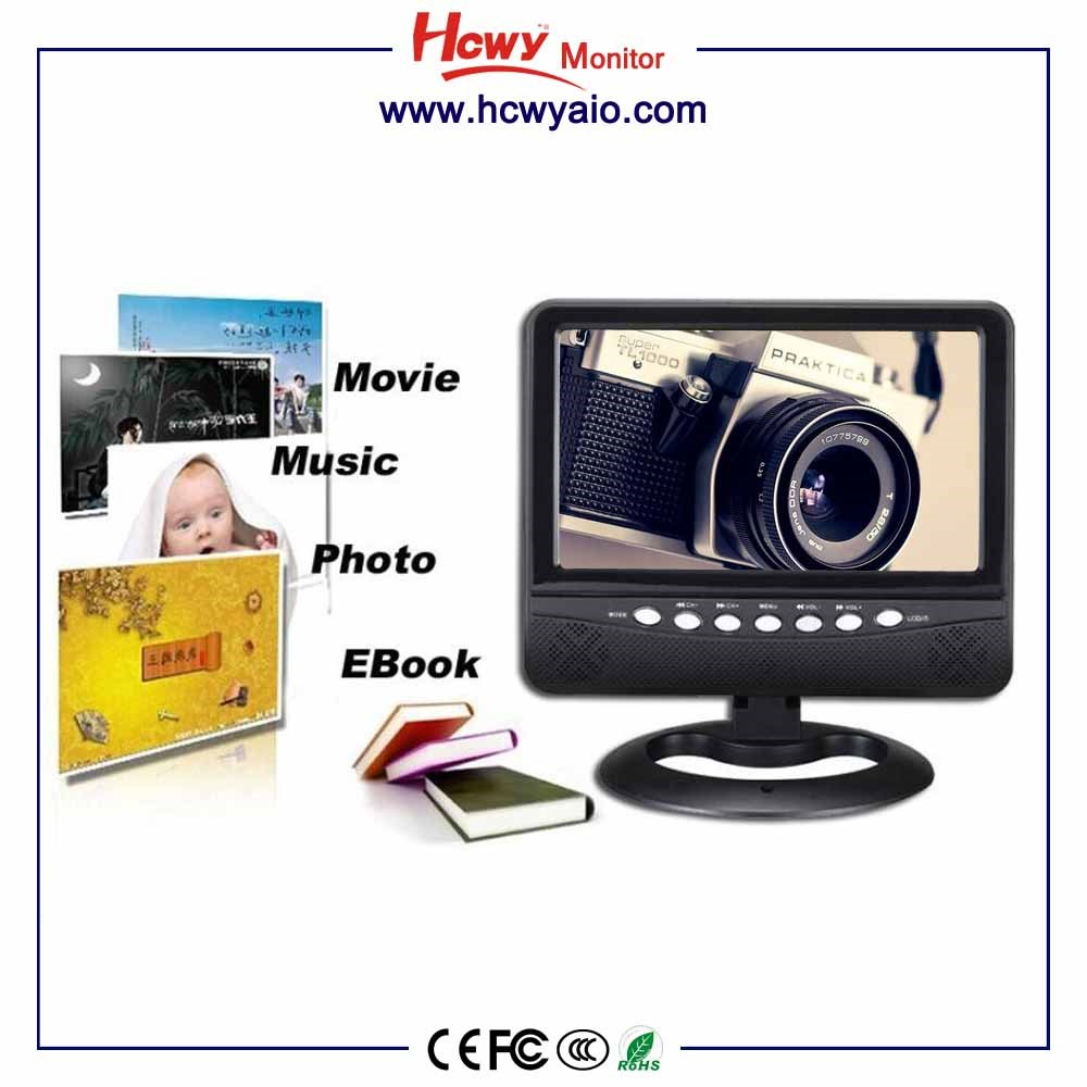 portable Car 7 inch digital tv portable dvd player withwith tv fm usb