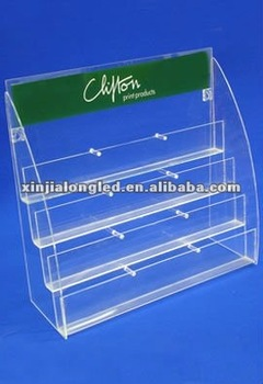 Clear acrylic greeting cards holder four tier acrylic greeting card clear acrylic greeting cards holder four tier acrylic greeting card units acrylic card display m4hsunfo Choice Image