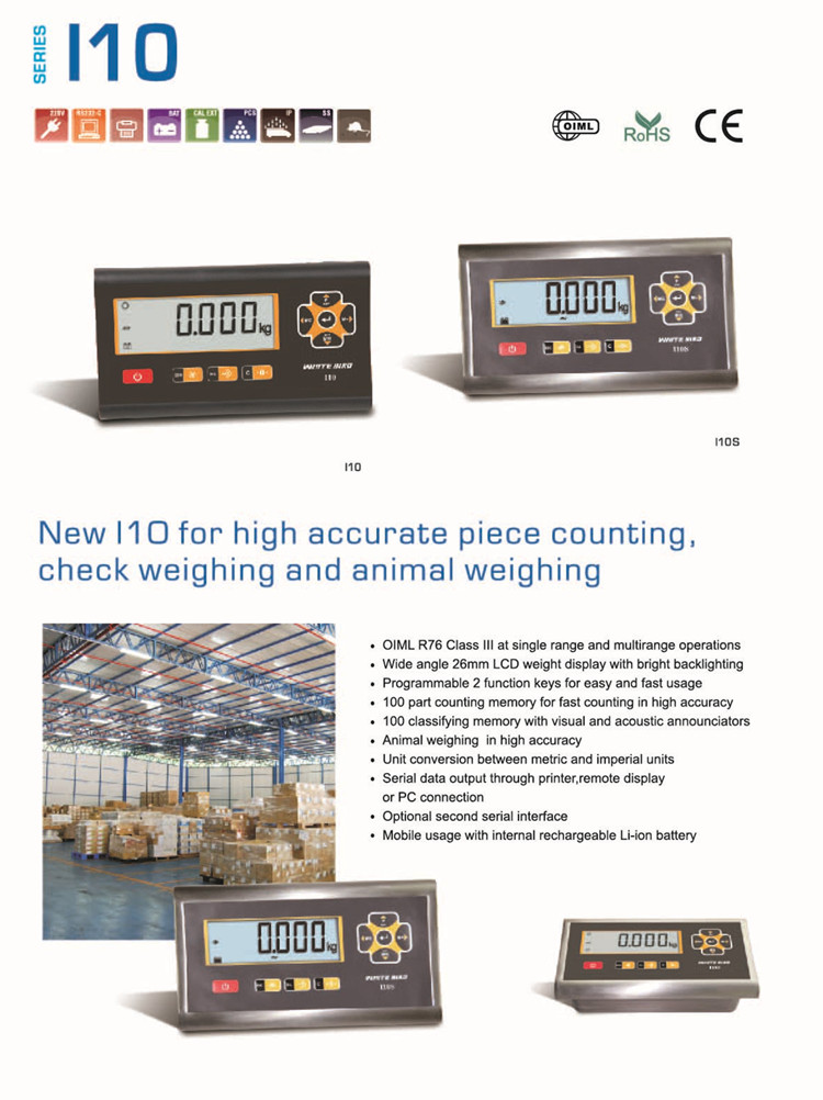 I10S Stainless Steel Digital Electronic Industrial Weighing Indicator RS232
