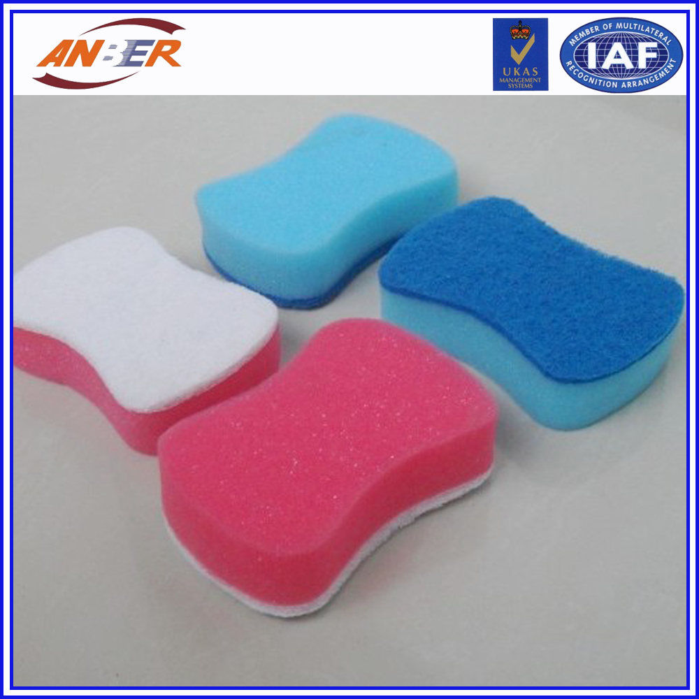 Good quality sponge scourer in different shape