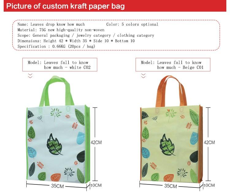 China Supplier Pp Non Woven Shopping Bag Eco-friendly Logo Printed ...