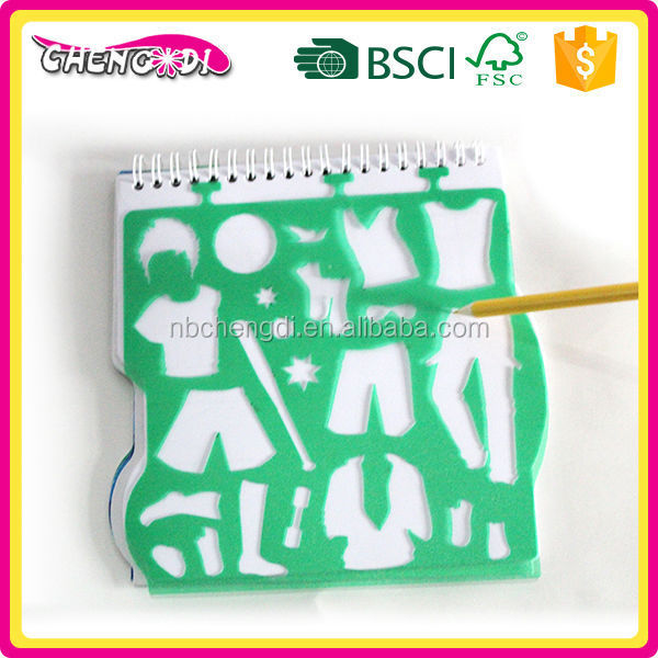 Made in china boys sport mini kids drawing book with colour pen and sticker