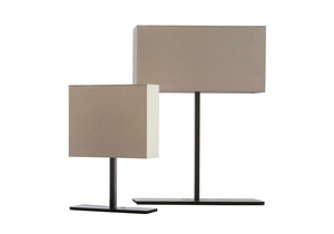 9.5-12 bronzed or bright chromed metal elegant atmosphere table lamps dark brown or white fabric lampshades