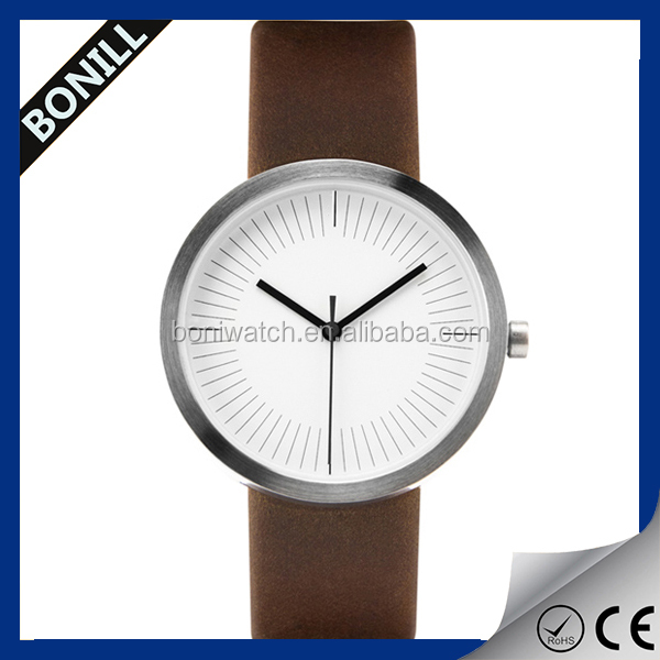 Simple style leather watch,your logo custom quartz watches, wrist watch for man and women