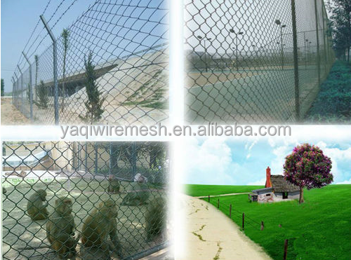 2015 Yaqi wire fence of chain link mesh&diamond shape wire mesh fence&1 vinyl coated chain link fencing mesh