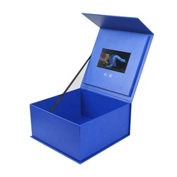 Factory direct custom made jewelry boxes cheap lcd screen video gift box business