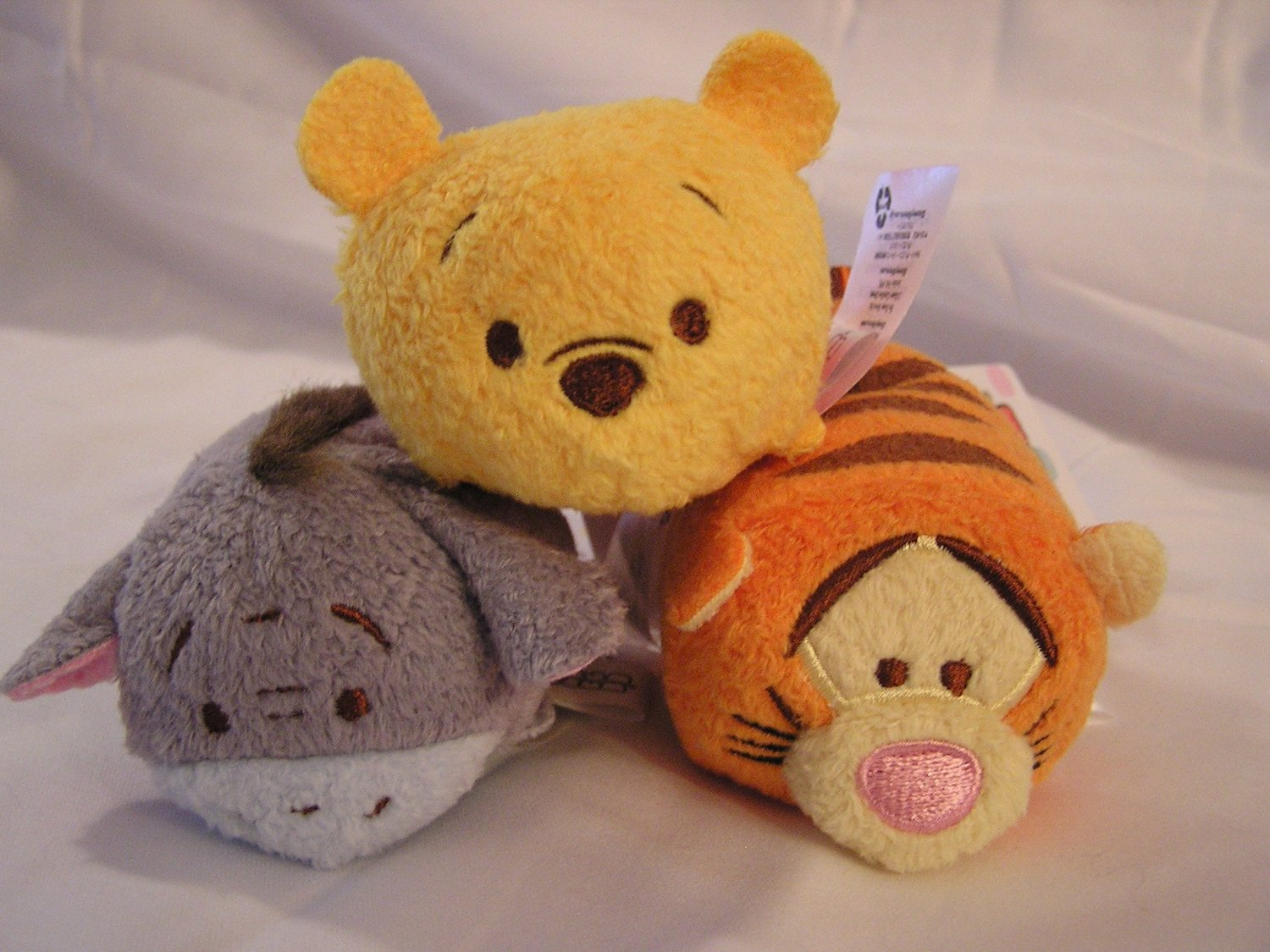 "Disney Winnie the Pooh, Tigger & Eeyore Tsum Tsum 3.5"" Mini Plush Animal Figures (3 ct bundle)"