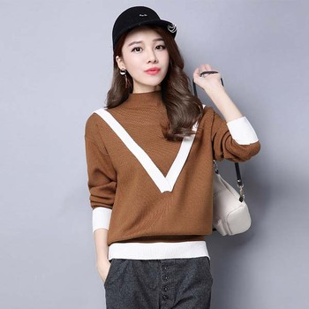 128c71fec7 Good quality pullover V pattern woven sweater 2017 spring fashion knit  sweater for pregnant women