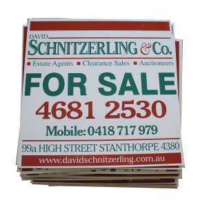 Corrugated Plastic Garden sign board, PP Hollow Board sheet die cut shape with digital printing