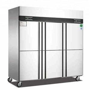 Best selling 1600L vertical freezer / italian upright 6 doors commercial refrigerator