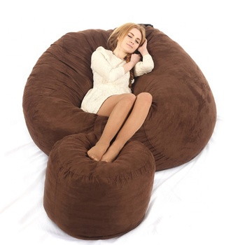 Microsuede cover with shredded foam filling large foam bean bag from visi lifestyle factory