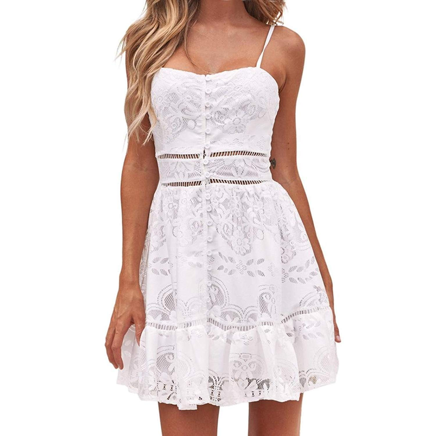 f29a64a9222c7 Cheap White Strappy Summer Dress, find White Strappy Summer Dress ...