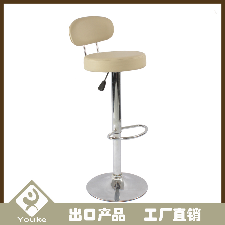 High quality round commercial bar stools with oval backrest