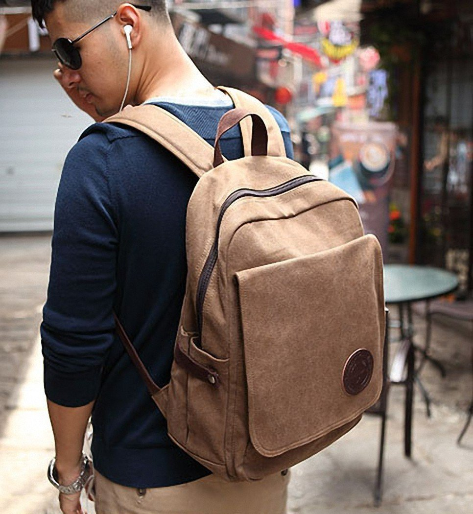 Best Stylish College Students Canvas Laptop Backpack,Slim Laptop ...