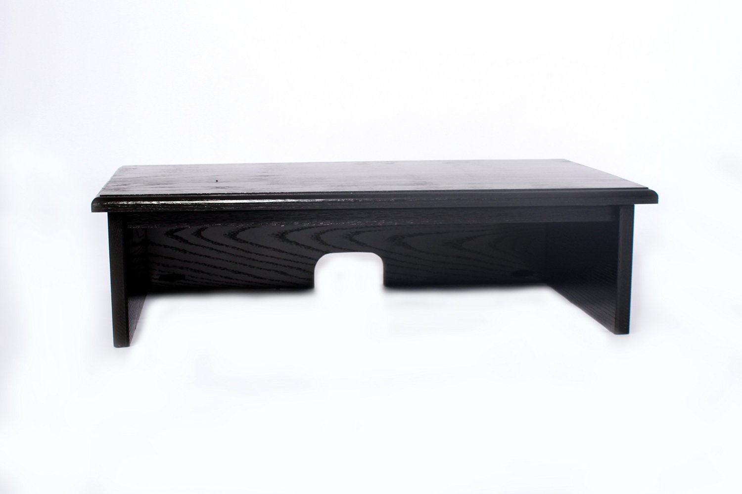 "BLACK ""LAZY SUSAN"" TV RISER - SPINS 360 DEGREES"