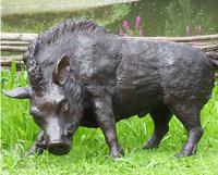 western bronze wild boar sculpture