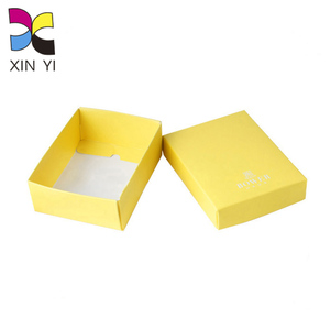 Best selling yellow foldable mini custom package scarf gift box