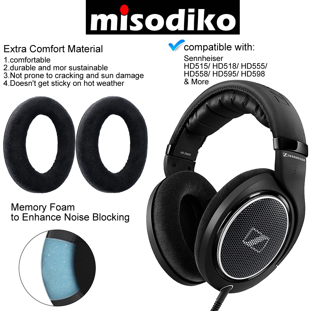 cd82a00afd1 ... Replace your worn-out ear pad cushions. 4. Made of High Quality ultra  soft Leather(or Velour) for Extra Comfort. 5. Internal Soft Memory Foam  Padding to ...