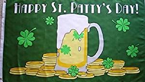 Happy St Pattys Day Flag Saint Patricks Ireland Holiday Irish Banner 3x5 Outdoor