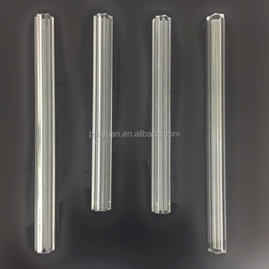Wholesale decorative crystal glass rod parts for chandeliers lighting