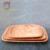 Natural Restaurant Hotel Rectangle Dinner Serviing Tray Customized Eco Friendly Coconut Wood Dinner Plate