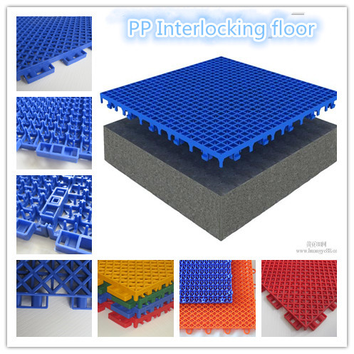 Plastic Flooring Type And Polypropylene Material High
