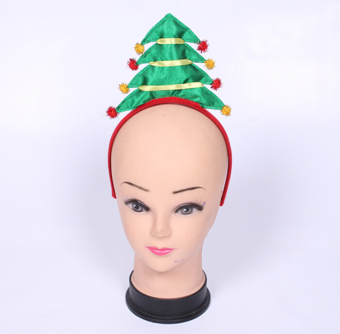 Supply of 2016 new lovely green Christmas tree, hair band