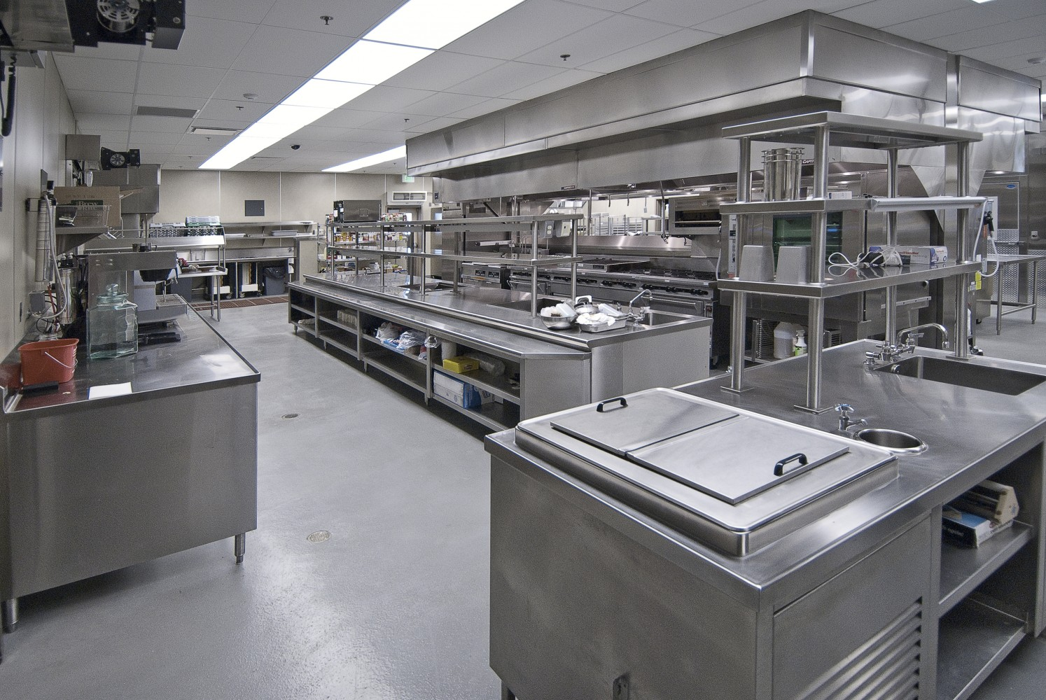 Whole set of commercial layout design hotel kitchen ...