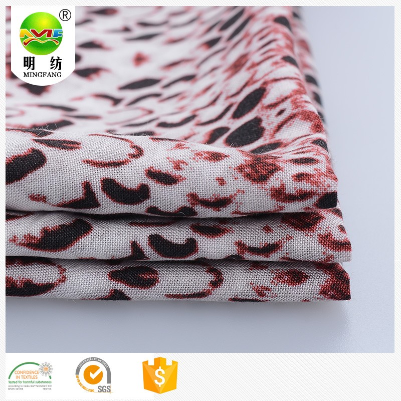 Popular 2016 hot sell 100% viscose printed voile woven fabric