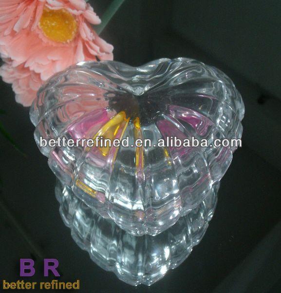 Glass Heart Shaped Jewelry Box Glass Heart Shaped Jewelry Box