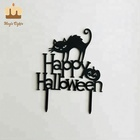 Wholesale Black Acrylic Halloween Cake Topper