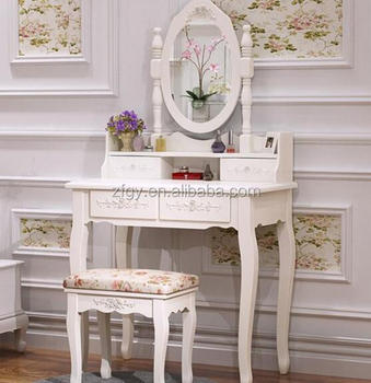Antique Style Wood Mirrors Dressing Table With Drawers Product On