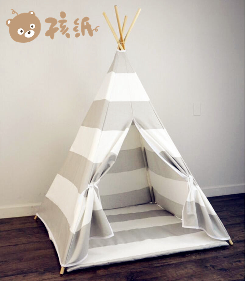 child cotton canvas bell tipi kids play tent