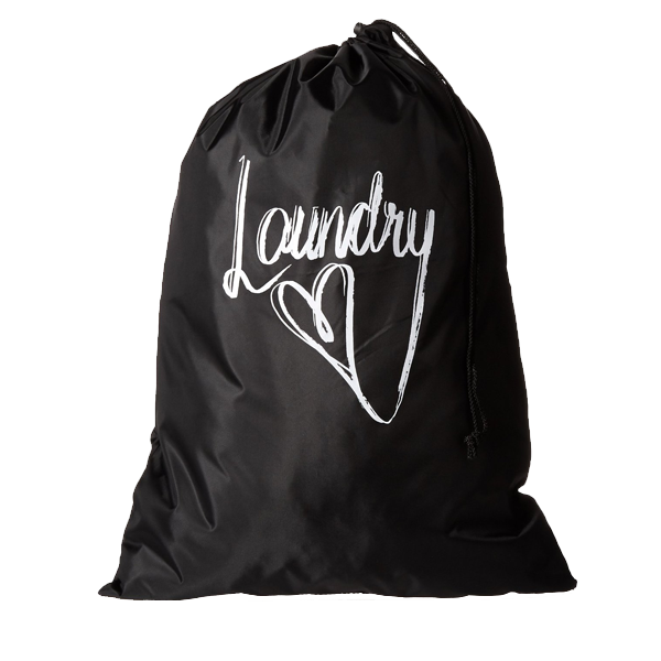 Portable polyester nylon drawstring dry cleaning  laundry bags
