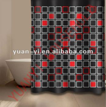 Block Shower Curtain Weights Black And Red Luxury Sets