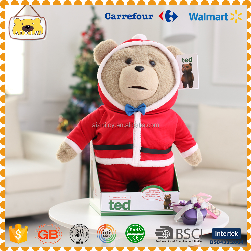Christmas toy ted bear shape and plush animal toys
