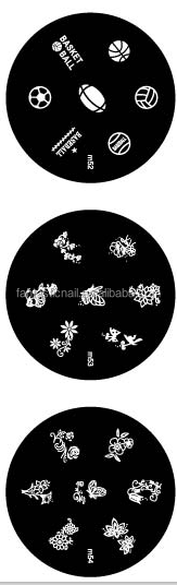 Hot Selling Ball And Flowers Designs 3d Metal Nail Art Mold Nail Stamping Plate