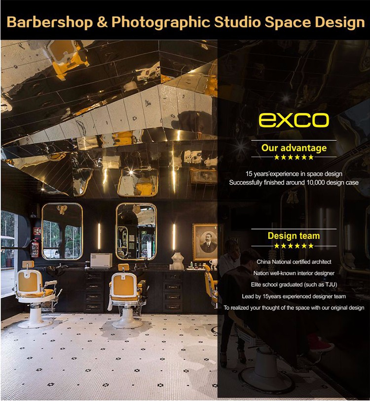 EXCO International Style Barber Shop Design Names Of Flowers Used For Decoration
