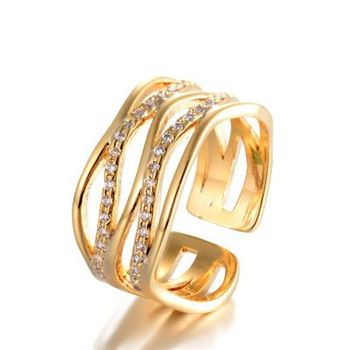 Fashion Wholesale 18k Gold Plated Ring For Couple Fancy La s