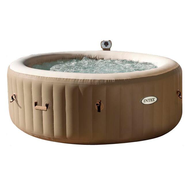Intex 28402 Deluxe Heat Bubble Massage Outdoor Inflatable Jacuzzi Pool Swim Mini Spa