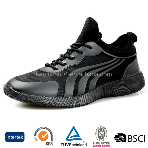 2017 wholesale online mesh upper all black boys lightweight ankle support running shoes australia