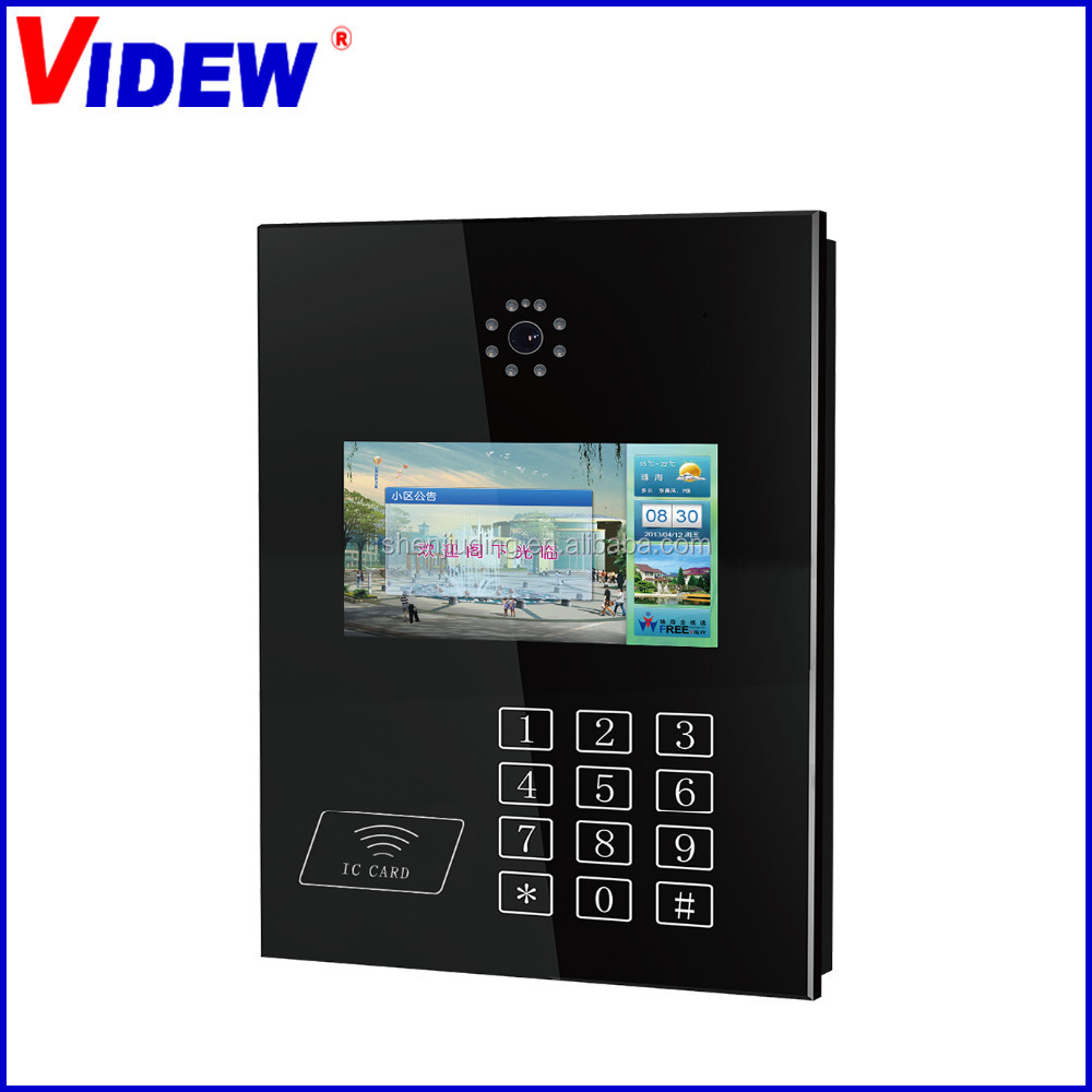 Digital/analog Video Remote Intercom System With 7 Inch Tft Lcd ...